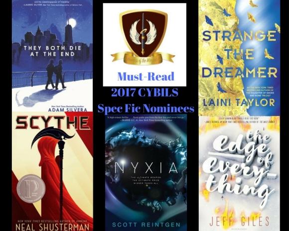 YA books, speculative fiction, CYBILS book awards