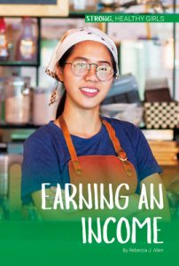 Earning And Income's Cover has a girl standing at the counter of a deli, smiling and ready to serve customers.